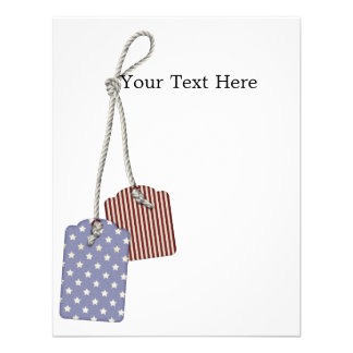 KRW Americana Tags 4 25x5 Custom Invitation