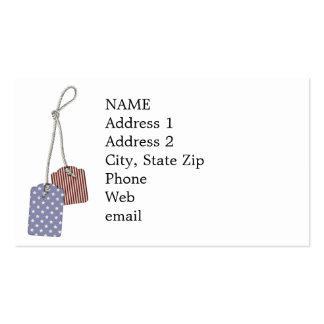 KRW Americana Tags Custom Business Cards