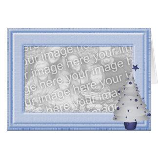 KRW Baby Boy Christmas Photo Frame Card