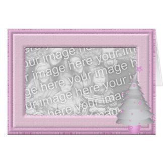 KRW Baby Girl Christmas Photo Frame Card