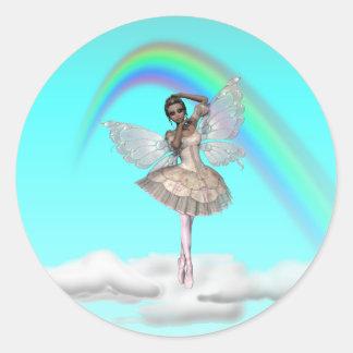 KRW Ballerina Faery Round Sticker