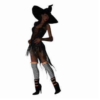 KRW Bewitching African American Witch Ornament Photo Sculpture Decoration