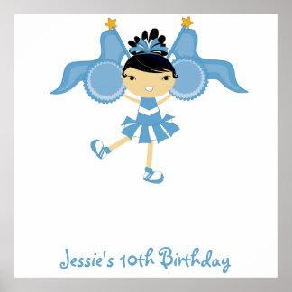 KRW Blue Cheerleader Birthday Autograph Poster