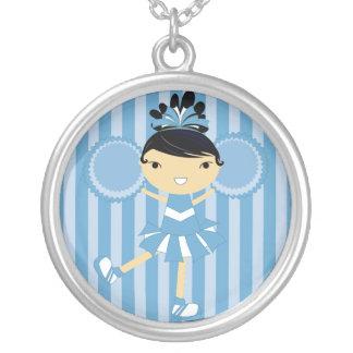 KRW Blue Cheerleader Birthday Party Necklace