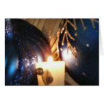 KRW Blue Christmas Holiday Ornament Card