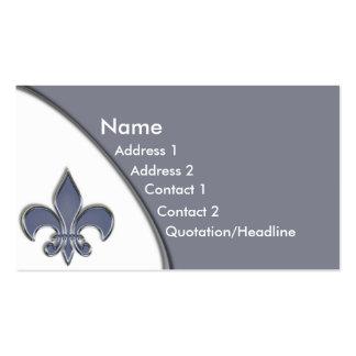KRW Blue Fleur De Lis Two Tone Business Card