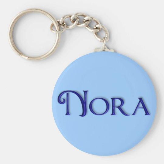 KRW Blue Glass Name Keychain - Nora