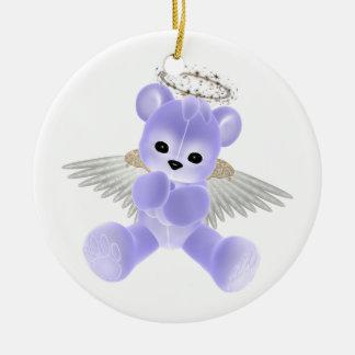 KRW Blue Guardian Angel Bear Ornament
