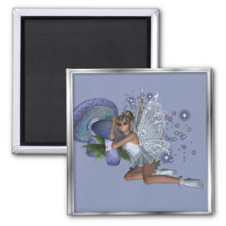KRW Blue Lace Faery 4 Square Magnet