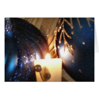 KRW Blue Ornament Hanukkah Card