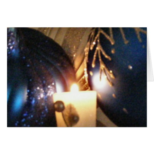 KRW Blue Ornament Hanukkah Card