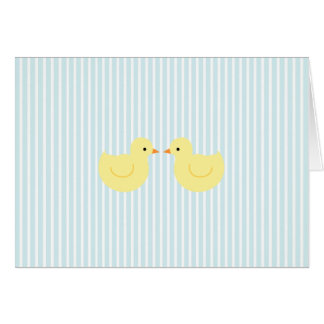 KRW Blue Stripe Rubber Duck Baby Shower Invitation