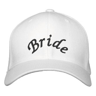 KRW Bride Script Black and White Embroidered Baseball Cap