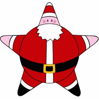 KRW Cartoon Star Santa Claus Ornament Photo Sculpture Decoration