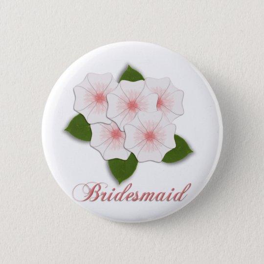 KRW Cherry Blossom Bridesmaid 6 Cm Round Badge