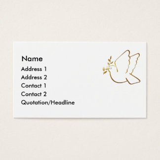 KRW Christian Dove Custom Business Card