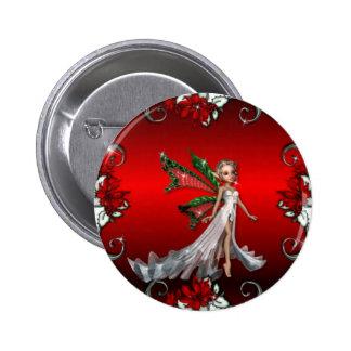 KRW Christmas Angel Holiday 6 Cm Round Badge