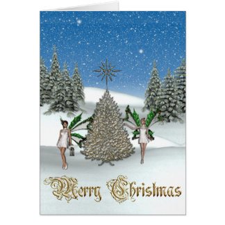 KRW Christmas Angels Greeting Card