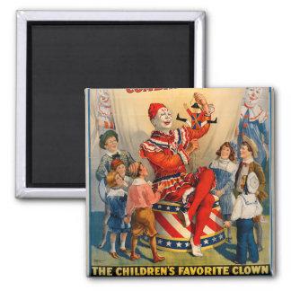 KRW Circus Clown Vintage Magnet