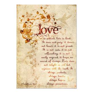 KRW Corinthians Love is: Wedding Invitation Ecru