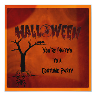 KRW Creepy Halloween Party Invitation