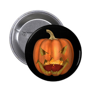 KRW Creepy Jack O Lantern Halloween 6 Cm Round Badge