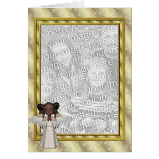 KRW Custom Angel Photo Frame Holiday Card