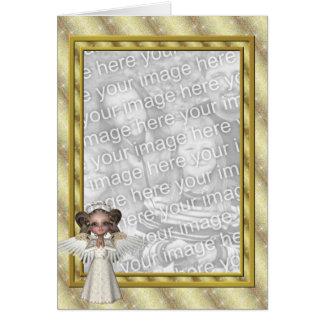 KRW Custom Angel Photo Frame Holiday Card