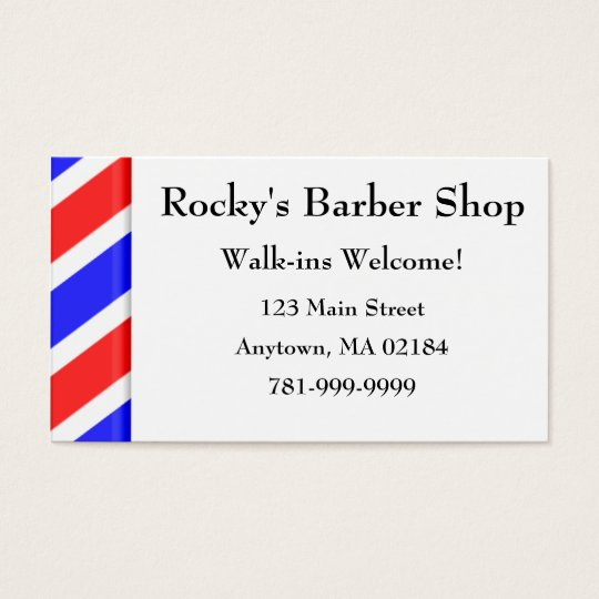 KRW Custom Barber Shop Appointment Business Card