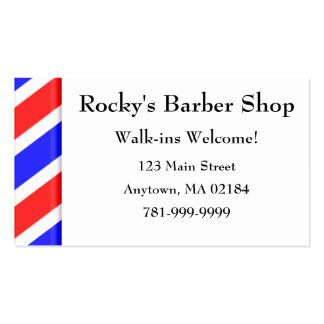 KRW Custom Barber Shop Appointment Business Cards
