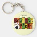 KRW Custom Bowling Birthday Party Key Ring