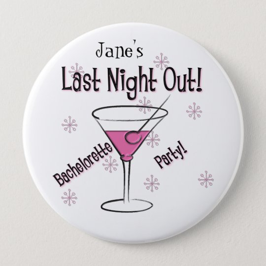 KRW Custom Bride's Last Night Out Bachelorette Pin