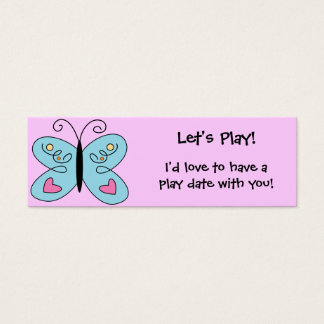 KRW Custom Colorful Butterfly Play Date Card