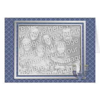 KRW Custom Happy Hanukkah Photo Frame Greeting Card