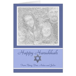 KRW Custom Happy Hanukkah Photo Frame Greeting Card