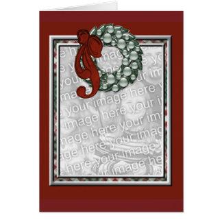 KRW Custom Holiday Wreath Photo Frame Card