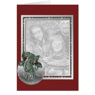 KRW Custom Ornament Photo Frame Holiday Card