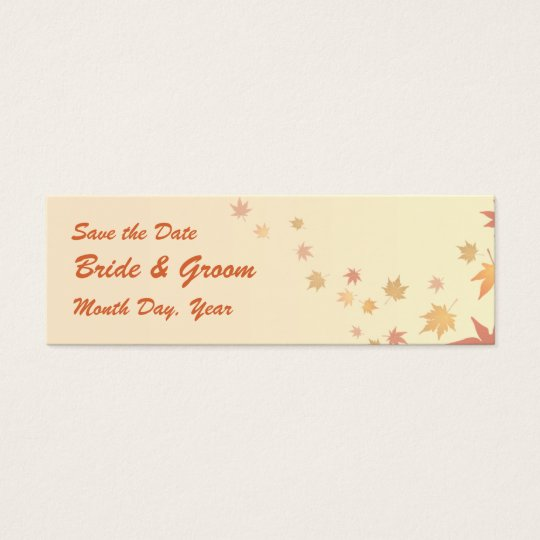 KRW Custom Save the Date Fall Leaves Wedding