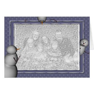 KRW Custom Snowmen Photo Holiday Card