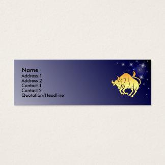 KRW Custom Taurus Zodiac Sign Profile Card