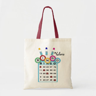 KRW Custom Text Colorful Bingo Tote Bag