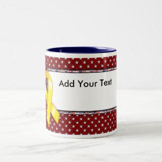 KRW Custom Text Yellow Ribbon Mug