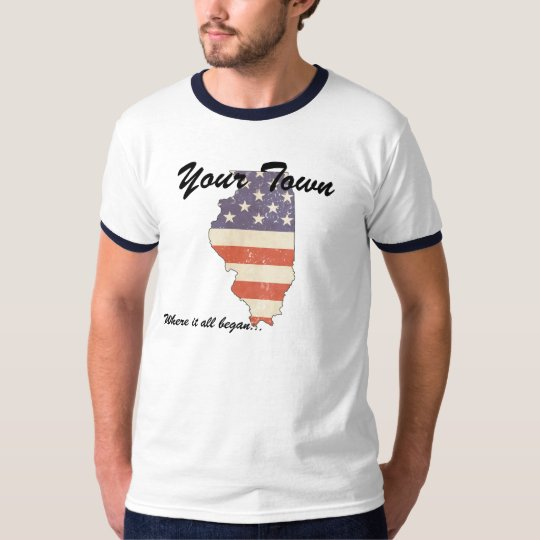 KRW Custom Your Town, IL Where It All Began Shirt