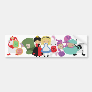 KRW Cute Alice in Wonderland Group Bumper Sticker