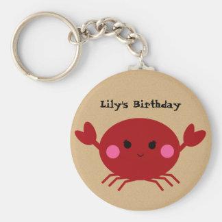 KRW Cute Custom Crab Birthday Keychain