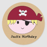 KRW Cute Custom Pirate Birthday Stickers