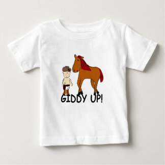 KRW Cute Giddy Up Horsie Baby Cowboy Baby T-Shirt