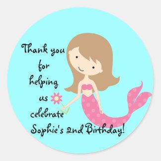 KRW Cute Pink Mermaid Custom Sticker