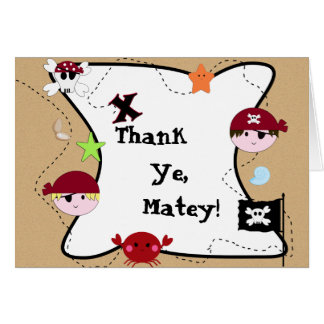 KRW Cute Pirate Thank You Card