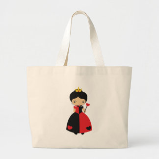 KRW Cute Queen of Hearts Large Tote Bag